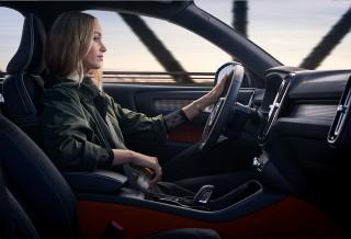 Driving Volvo Car Interior